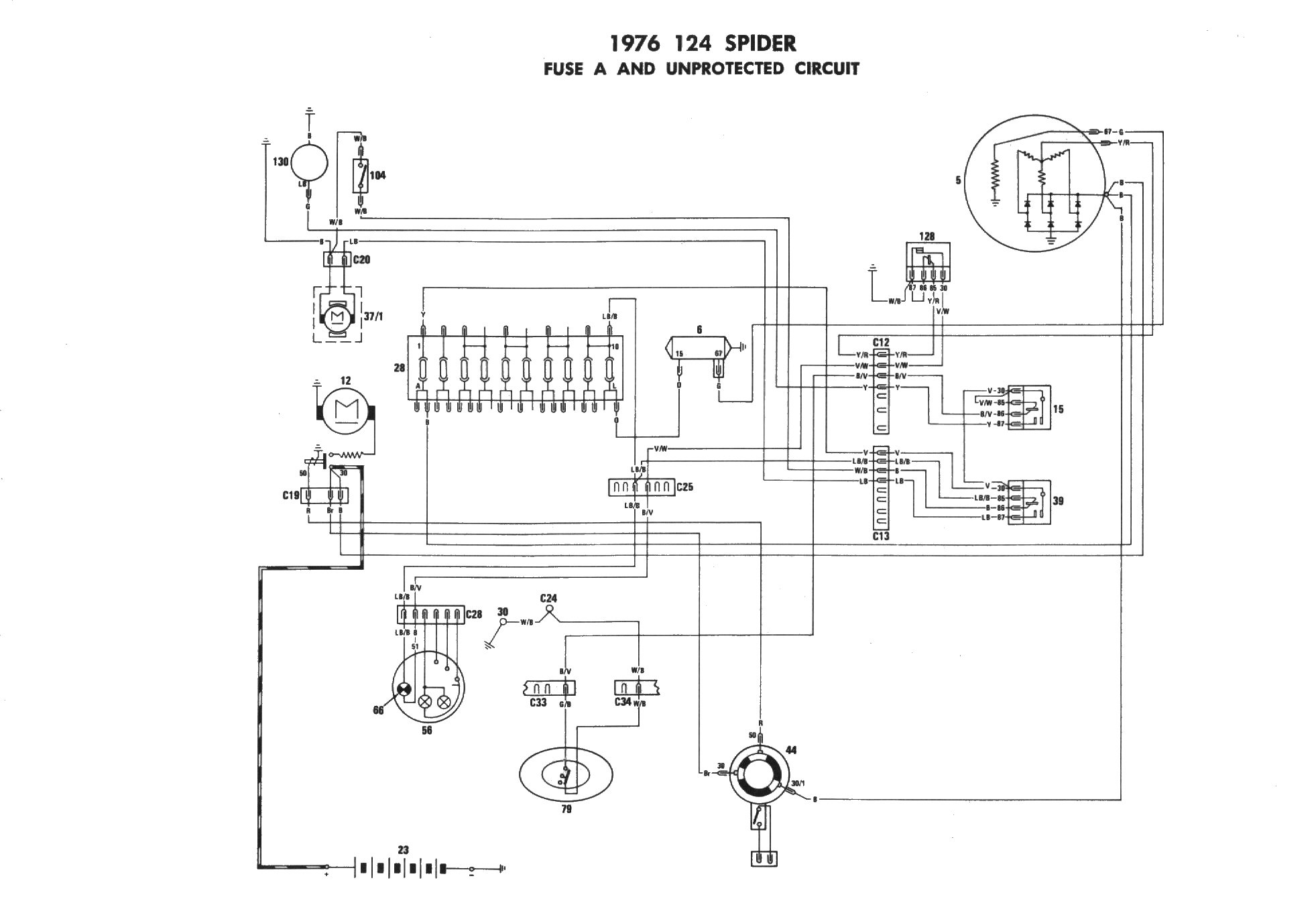 1978 Fiat Fuse Box Wiring Diagram Data Universal Dino Schema Diagrams Ritmo