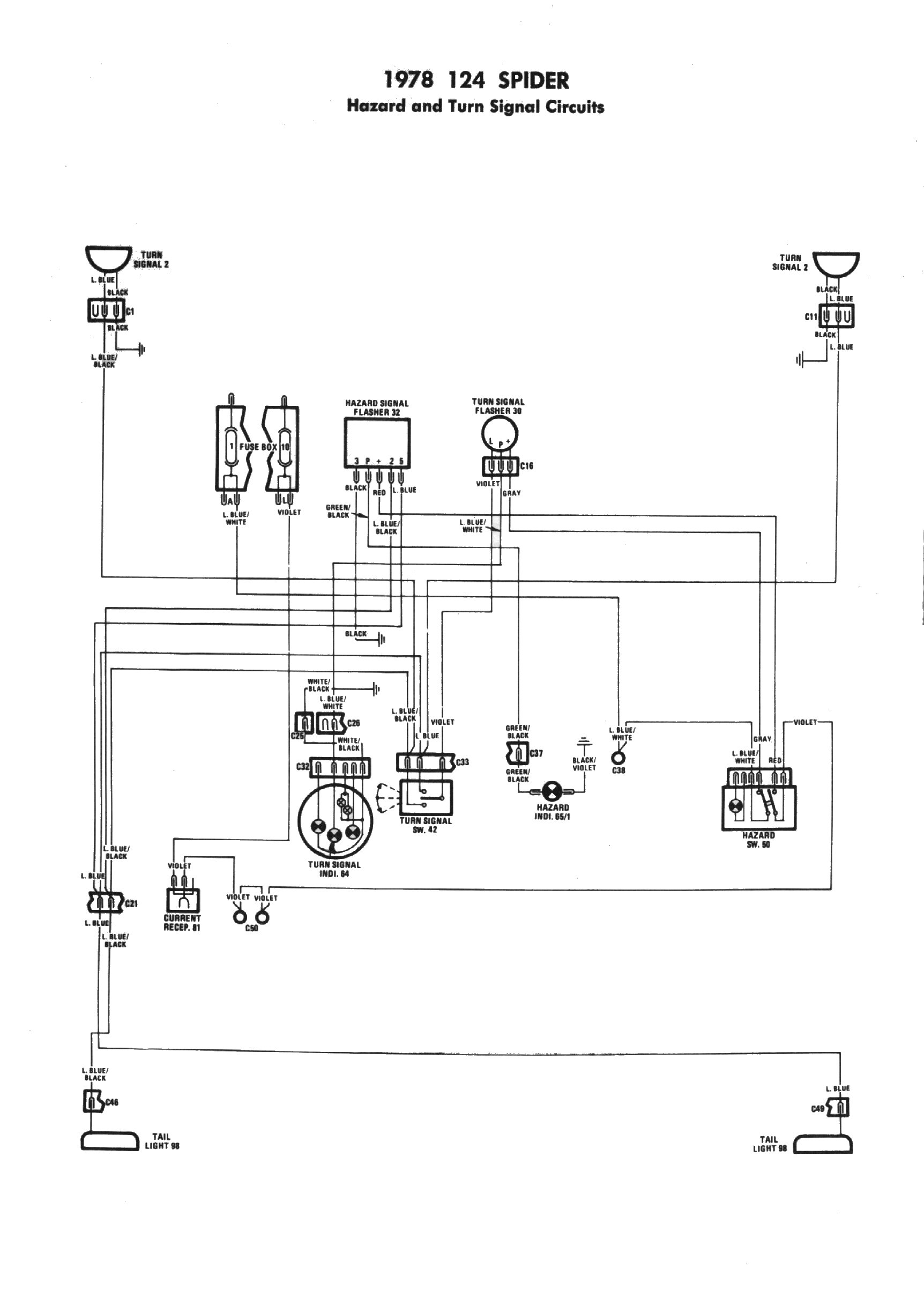 [EQHS_1162]  Technical Advice | 1983 Fiat 124 Electrical Schematic |  | FIAT America and Sacramento Area Fiat Club Tour