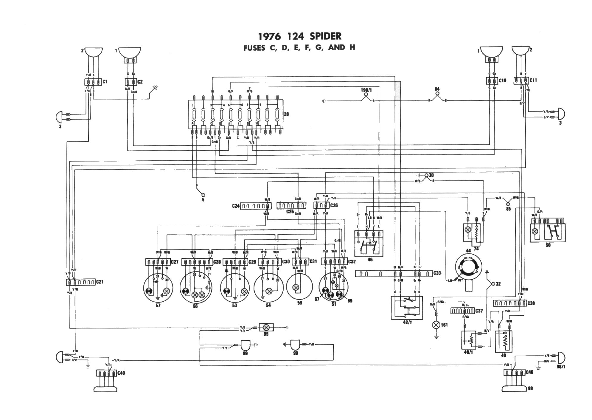 fiat spider cso 2000 electrical wiring diagram 81 wire center u2022 rh linxglobal co