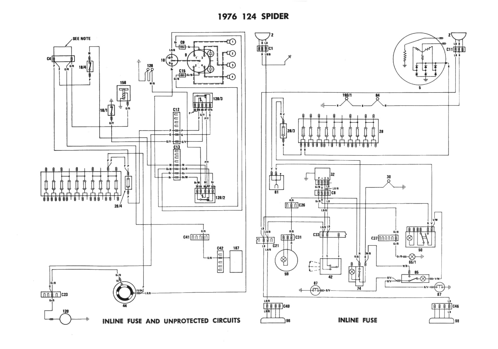 fiat 600 wiring diagram wiring diagram detailed